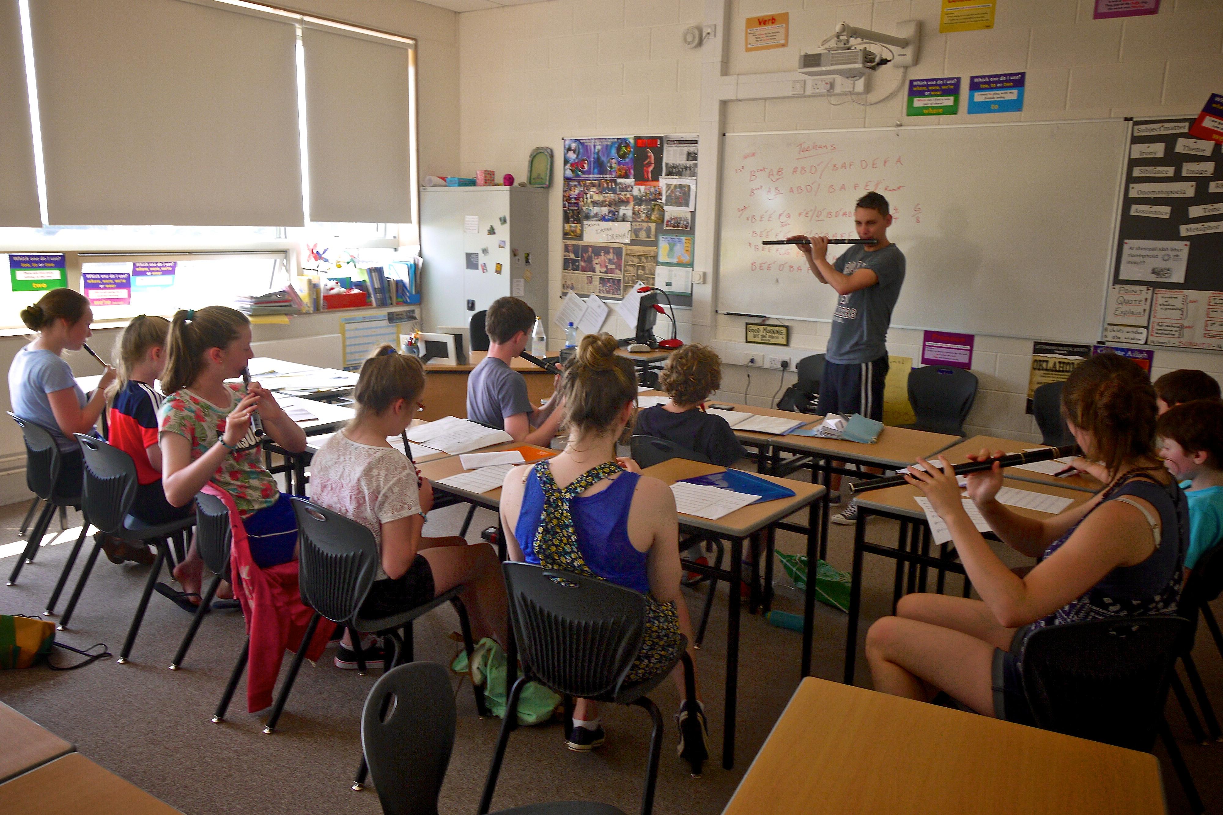 Ciaran Carlin Flute Class Ceol na Coille Summer School 2014