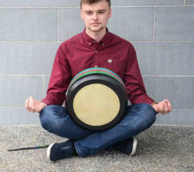 Dale McKay, Bodhran, Bodhrán, Drum, Ceol na Coille, Summer School, Letterkenny, Donegal, Irish Music, Traditional MUsic