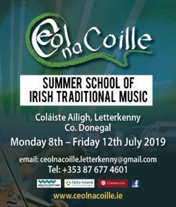Ceol na Coille, Summer School, Paul Harrigan, Letterkenny, Co. Donegal, Irish Traditional Music, Irish Music, Banjo, Accordion, Uilleann Pipes, Harp, Guitar, Mandolin, Whistle, Flute